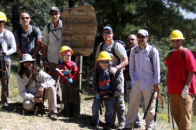 Volunteers take a moment to pose for a group photo before beginning their second day of trail maintenance on the Arizona Wilderness Coalition Saddle Mountain Wilderness project, Kaibab National Forest, Aug. 16, 2015 | Photo courtesy of the U.S. Forest Service, St. George News