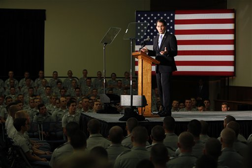 Republican presidential candidate, Wisconsin Gov. Scott Walker, gives a foreign policy speech on the campus of The Citadel, Friday, in Charleston, S.C. , Aug. 28, 2015 | AP Photo/Mic Smith, St. George News