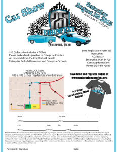 Car show flyer, including T-shirt design, parking instructions | Image courtesy of enterprisecornfest.wix.com, St. George News