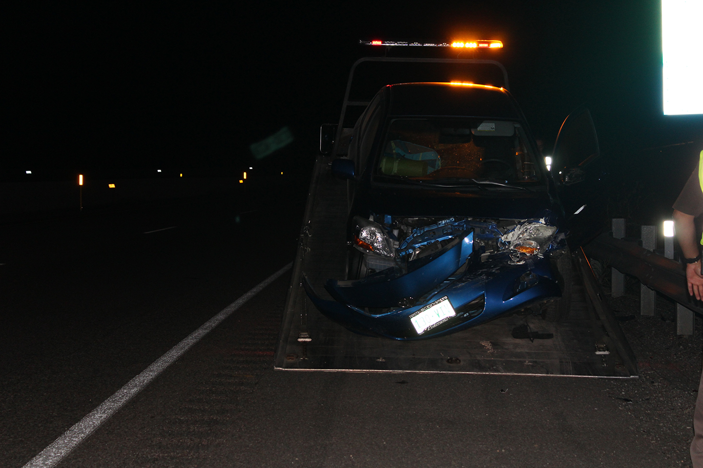 Woman Dog Traveling To Las Vegas Spin Out On Interstate