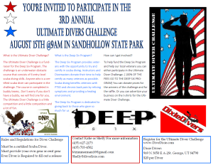 Diving event flyer | Image courtesy of Bruce Solomon, St. George News