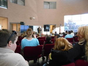 Parents and students gather in the devotional room at Providence Innovation Academy, St. George, Utah, date not specified | Photo Courtesy of Providence Innovation Academy, St. George News
