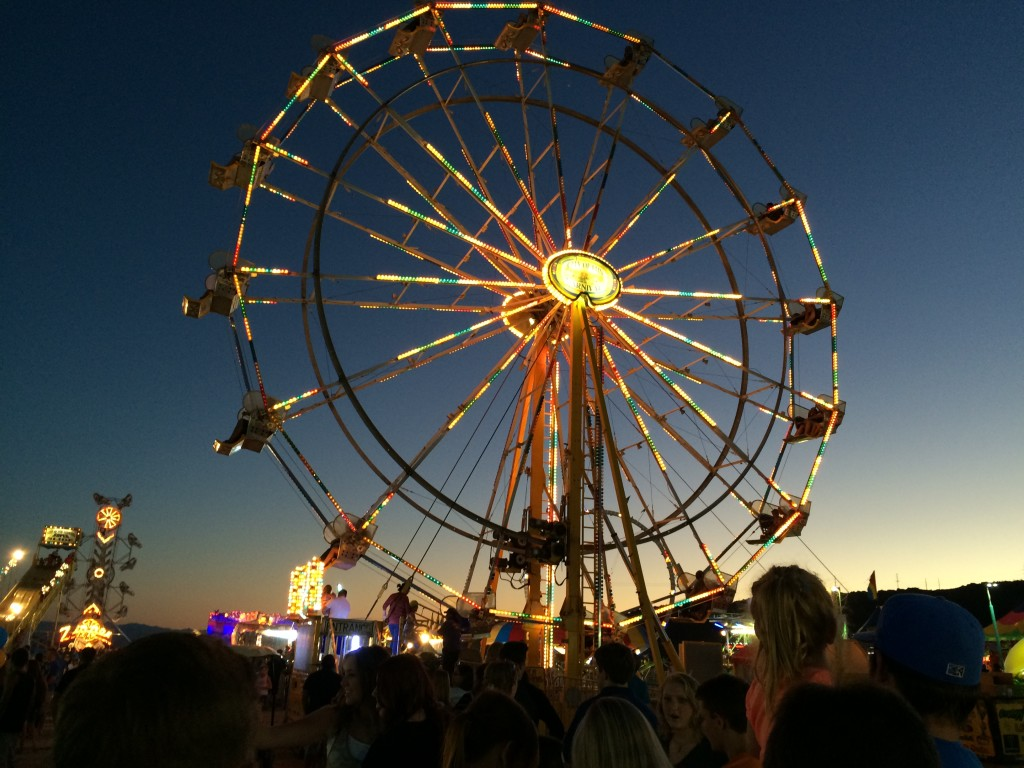 Guests line up to ride the Ferris Wheel in this photo from 2015 of the Washington County Fair, Hurricane, Utah, Aug. 12, 2015 | Photo by Cami Cox Jim, St. George News
