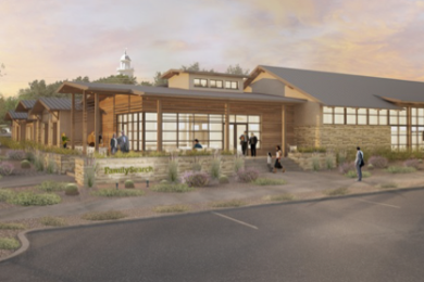 A conceptual rendering of the new St. George FamilySearch Library | Photo courtesy of FamilySearch, St. George News