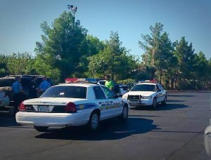 A St. George man was arrested for drugs and an outstanding warrant when police located him in the Harmon's parking lot, St. George, Utah, Aug. 15, 2015 | Photo by Jessica Tempfer, St. George News