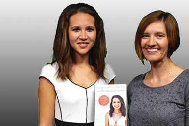 L-R Author Indigo Klabanoff and Take 10 host Hollie Reina pause for a photo op in the St. George News studio, St. George, Utah, 8/14/2015 | Photo by Leanna Bergeron, St. George News