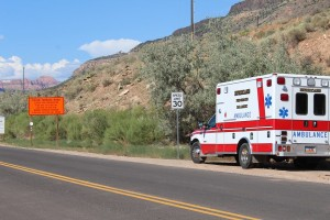 Emergency responders pursued a suspect on state Route 9 to Kolob Terrace road in Virgin, Utah, Aug. 15, 2015 | Photo by Nataly Burdick, St. George News