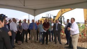 Groundbreaking ceremony for new Lin's Market, St. George, Utah, Aug. 7, 2015 | Photo by Sheldon Demke, St. George News