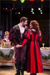 "Brian Vaughn, left, as Petruchio and Melinda Pfundstein as Katherine in the Utah Shakespeare Festival's 2015 production of ""The Taming of the Shrew,"" Cedar City, Utah, circa 2015 