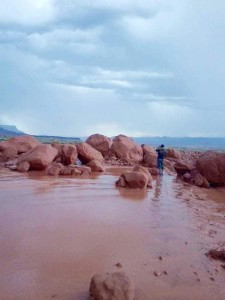 Heavy storms cause mud and rock slide in Coconino County, Arizona, Aug. 9, 2015 | Photo courtesy of Arizona Department of Transportation, St. George News