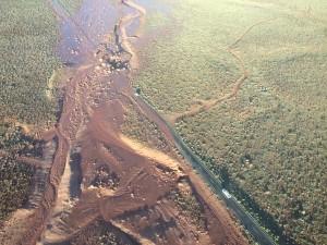 Aerial image of slide area, Coconino County, Arizona, Aug. 10, 2015 | Photo courtesy of Arizona Department of Public Safety, St. George News