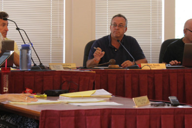 Mayor Stan Smith speaks at a Town Council meeting, Springdale, Utah, August 12, 2015   Photo by Nataly Burdick, St. George News