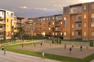 A rendering of Dixie State University's new student housing complex, Campus View Suites | Image courtesy of Method Studio, St. George News