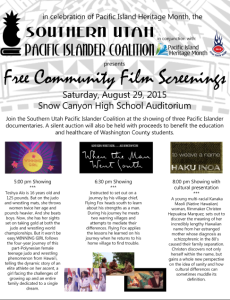 Event flyer | Image courtesy of the Southern Utah Pacific Islanders Coalition, St. George News