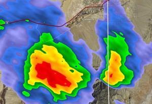 The National Weather Service issued a thunderstorm warning for parts of Clark County, Nevada, moving into Southern Utah, Las Vegas, Nevada, August 11, 2015 | Photo courtesy of US National Weather Service Las Vegas Nevada, St. George News