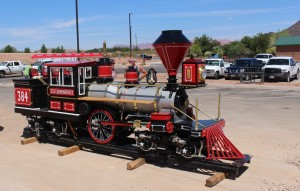 Novelty train for the All Abilities Park and Playground, freshly delivered, St. George, Utah, Aug. 17, 2015 | Photo by Mori Kessler, St. George News
