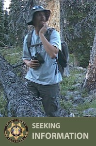 The Iron County Sheriff's Office is seeking information about the pictured man in relation to a theft case, date and location not specified   Photo courtesy of Iron County Sheriff's Office, St. George News