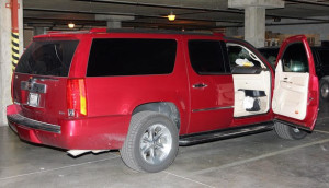 Warren Jeffs Cadillac Escalade, seized by authorities after Jeffs was arrested, date and location not specified | Photo courtesy of Willie Jessop, St. George News