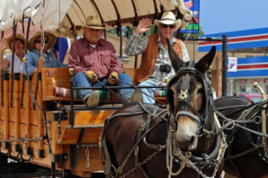 """Participants in the Western Legends Roundup """"High Noon Parade,"""" Kanab, Utah, date not specified   Photo courtesy of Western Legends Roundup, St. George News"""