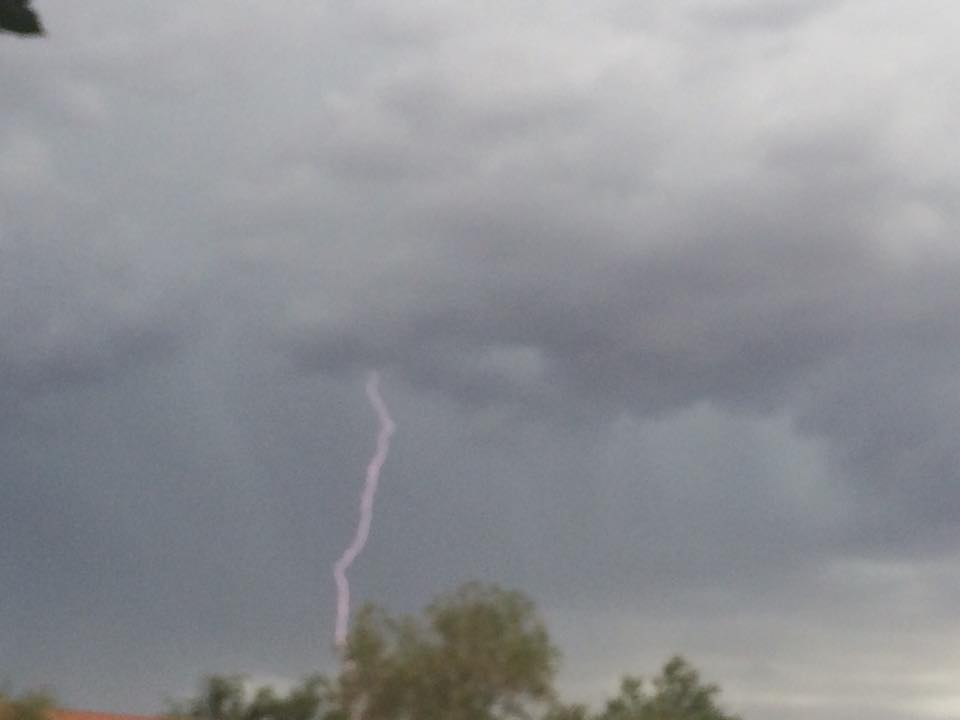 Lightning over Ivins, Utah, Sept. 13, 2015   Photo by Hollie Reina, St. George News