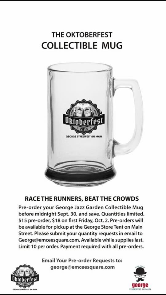 George, Streetfest on Main is offering collectible Oktoberfest mugs | Image courtesy of George, Streetfest, St. George News