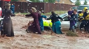 Flash flood results in fatalities in Hildale, Utah, Sept. 14, 2015 | Photo courtesy of Chris and Lydia Wyler, St. George News