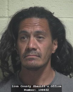 Ikaaka Kaheaku, Iron County Jail, Cedar City, Utah, Spetember 12, 2015 | Courtesy of Iron County Bookings, St. George News