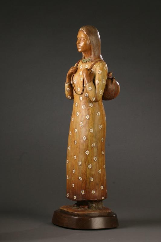 Bronze by Hopi Sculptor Evelyn Fredericks, Arizona, undated   Photo courtesy of Evelyn Fredericks, St. George News