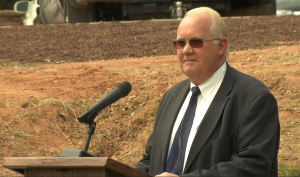 Hildale Mayor Philip Barlow speaking at the public memorial service at Maxwell Park, Hildale, Utah, Sept. 26, 2015   Photo by Michael Durrant, St. George News