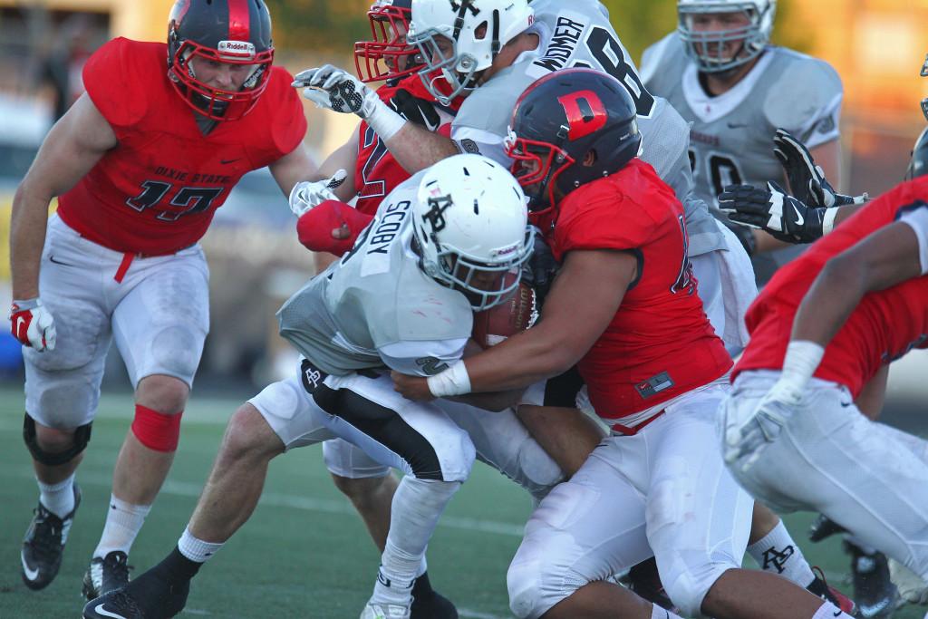 Dixie State University vs. Azusa Pacific University, Football, St. George, Utah, Sept. 26, 2015,   Photo by Robert Hoppie, ASPpix.com, St. George News