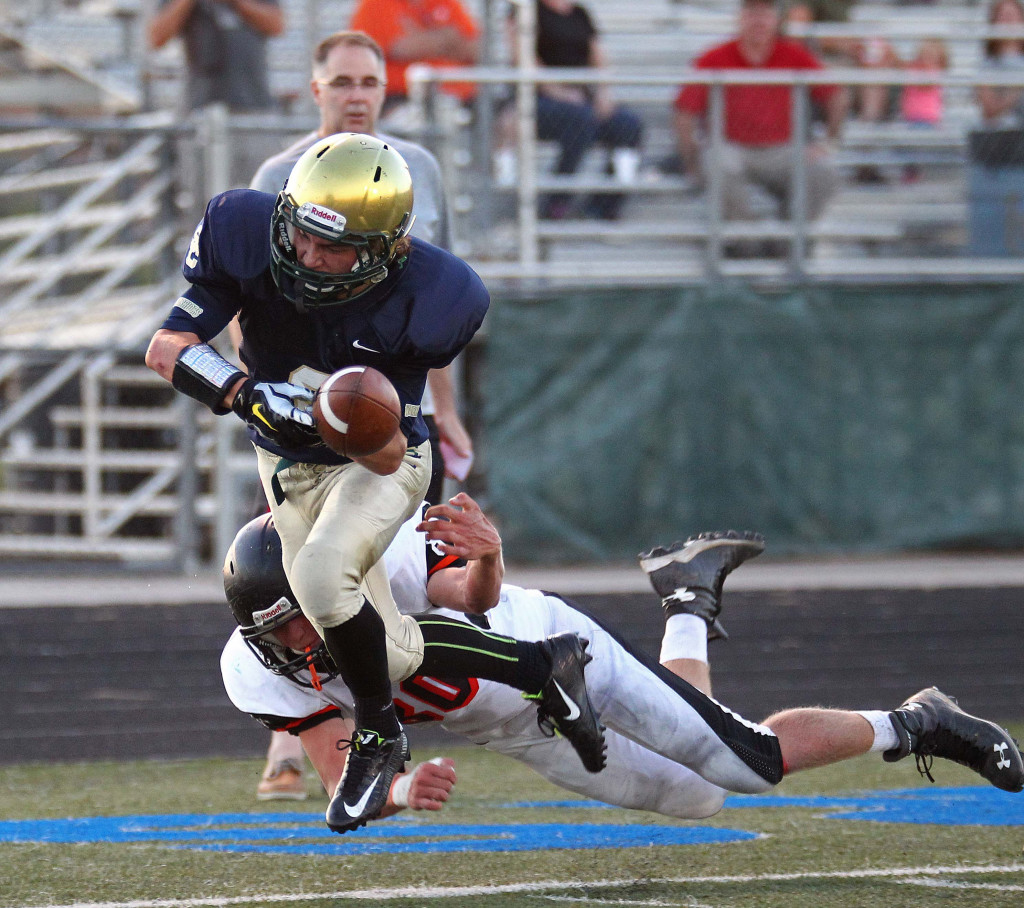 Snow Canyon running back Chris Poulsen, file photo from Snow Canyon vs. Ogden, Football, St. George, Utah, Sept. 11, 2015, | Photo by Robert Hoppie, ASPpix.com, St. George News