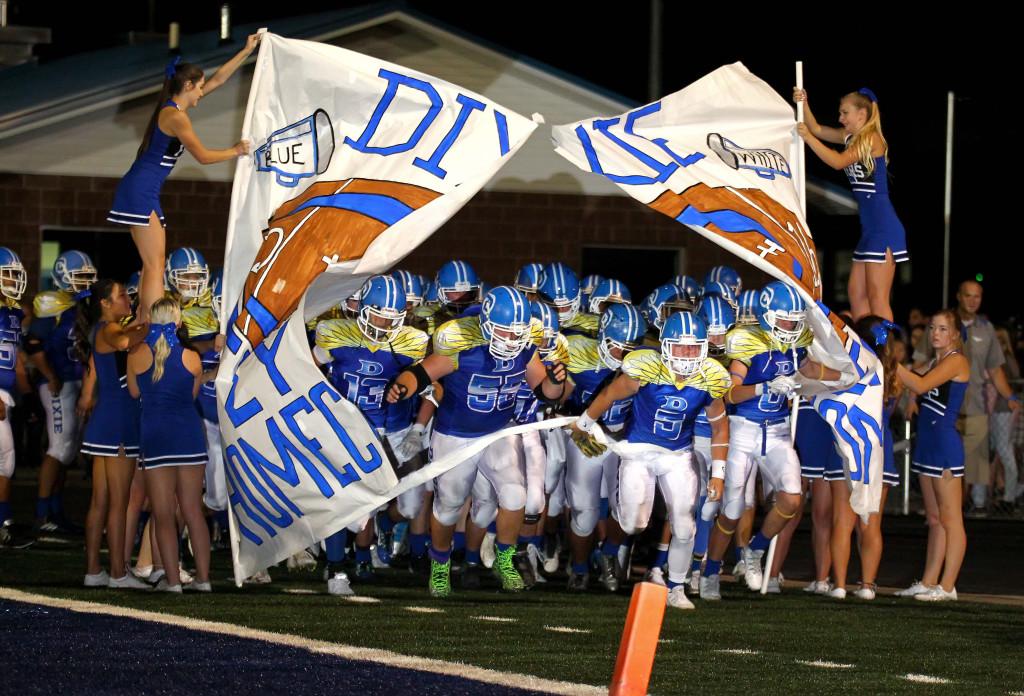 Dixie vs. Canyon View, Football, St. George, Utah, Sept. 11, 2015, | Photo by Robert Hoppie, ASPpix.com, St. George News