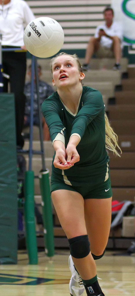 Shaylee Reed, Snow Canyon vs. Pine View, Volleyball, St. George, Utah, Sept. 15, 2015, | Photo by Robert Hoppie, ASPpix.com, St. George News