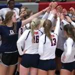 Dixie State University Volleyball, St. George, Utah, Sept. 2, 2015, | Photo by Robert Hoppie, ASPpix.com, St. George News