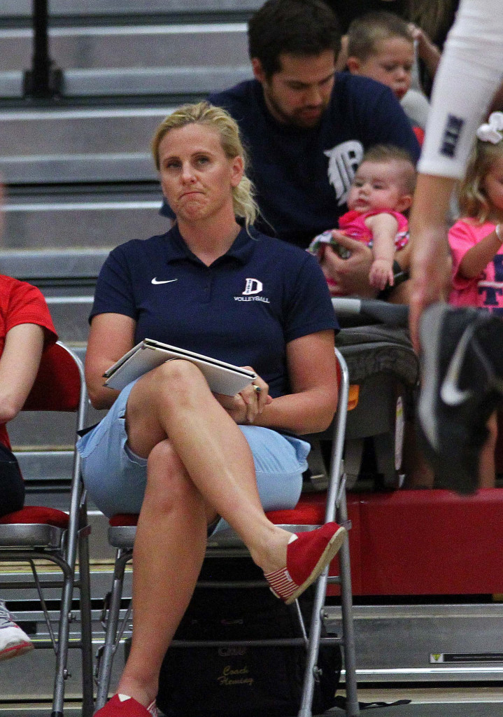 Head Coach Robyn Felder, Dixie State University Volleyball, St. George, Utah, Sept. 2, 2015, | Photo by Robert Hoppie, ASPpix.com, St. George News