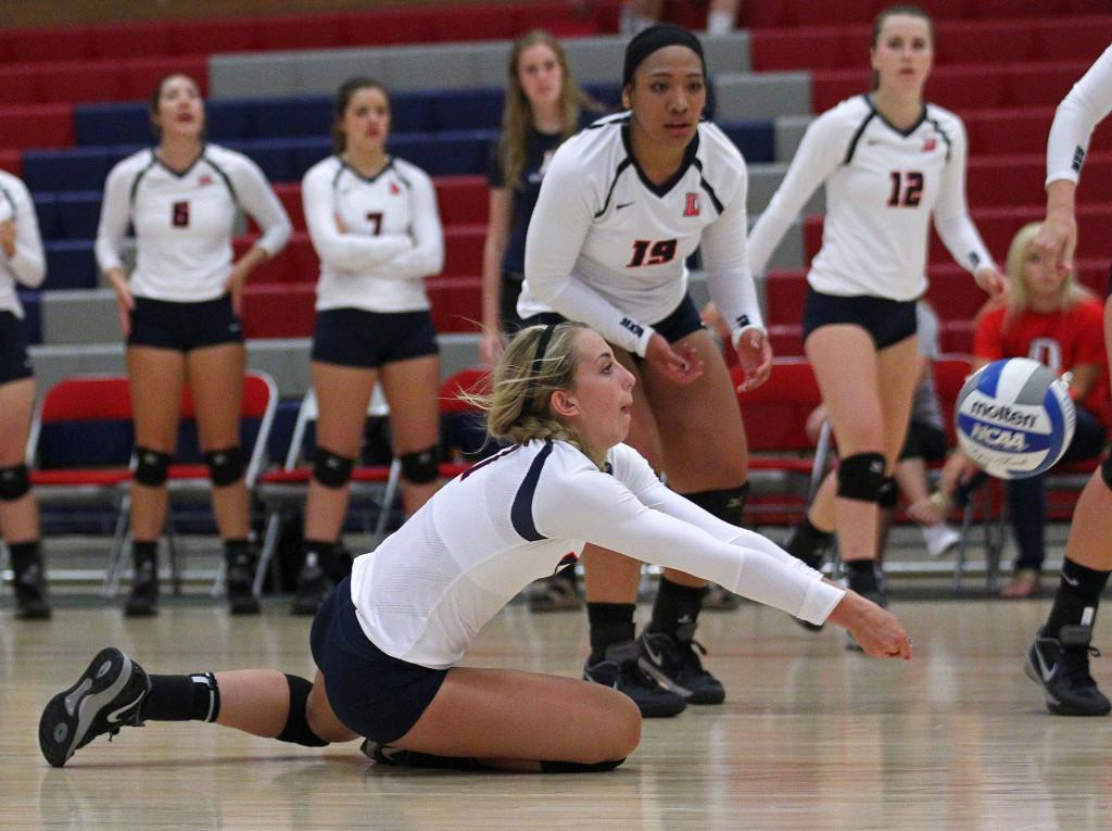Sidney Brandon, Dixie State University Volleyball, St. George, Utah, Sept. 2, 2015,   Photo by Robert Hoppie, ASPpix.com, St. George News
