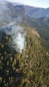 An aerial shot of the Brown Trail Fire, Washington County, Utah, Sept. 11, 2015 | Photo courtesy of the U.S. Forest Service, St. George News