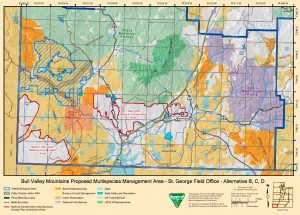 Map of the Bull Valley Mountains proposed multispecies management area   Image courtesy of BLM