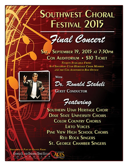 Southwest Choral Festival 2015 Final Concert Flyer
