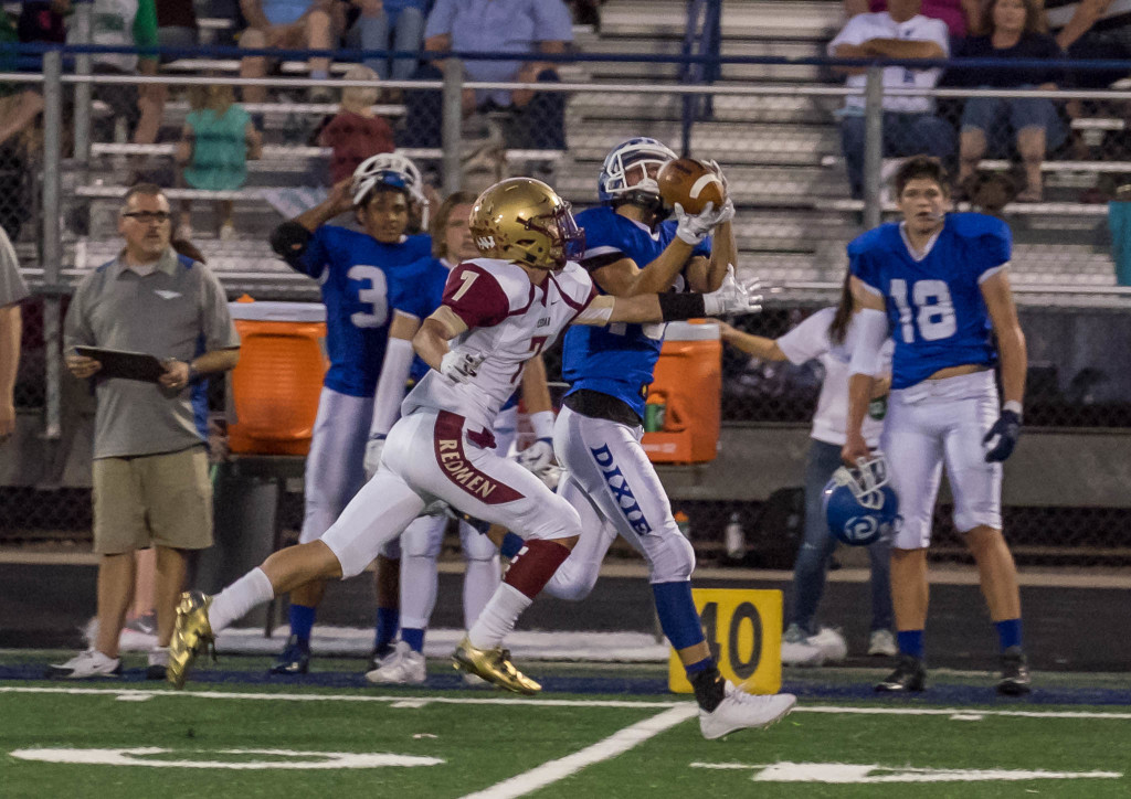 Bret Barben with the catch, Cedar at Dixie, St. George, Utah, Sept. 18, 2015 | Photo by Dave Amodt, St. George News