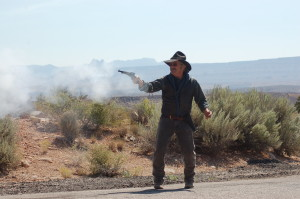 Shootout at high noon reenacts the dual to the death of Truby and Marshal Diamond. Leed's, Utah, Sept. 12, 2015 | Photo by Hollie Reina, St. George News