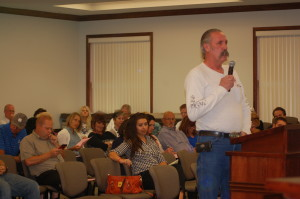 Michael Gamble addresses the Washington County School District Board of Education, St. George, Utah, Sept. 15, 2015 | Photo by Hollie Reina, St. George News