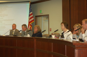 The Washington County School District Board of Education hears public comment over the fate of the Dixie High School baseball field, St. George, Utah, Sept. 15, 2015 | Photo by Hollie Reina, St. George News