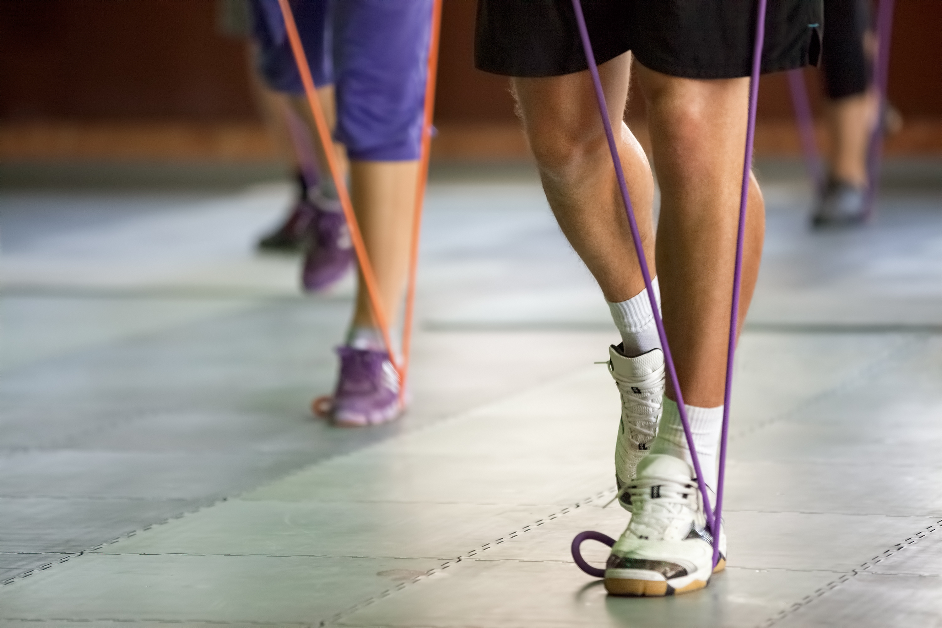 Strength training with a resistance band | Stock image, St. George News