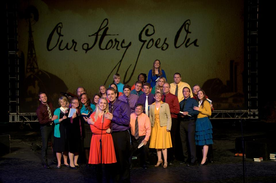 "Photo from ""Our Story Goes On"" performed prior to 2015, ensemble. Tuacahn Amphitheatre, Ivins, Utah, date unspecified 