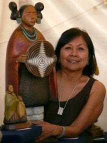 Hopi Sculptor Evelyn Fredericks, Arizona, undated   Photo courtesy of Evelyn Fredericks, St. George News