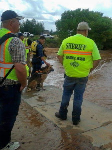 Members of the Iron County Sheriff's Search and Rescue team, called into Hildale to aid in recovery efforts, Hildale, Sept. 15, 2015 | Photo courtesy of the Iron County Sheriff's Search and Rescue team, St. George News