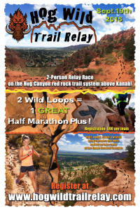 Hog Wild Trail Relay flyer | Image by Kanab City, St. George News