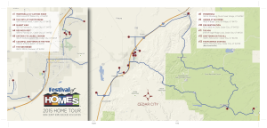 Map of the Cedar City Festival of Homes event flyer | Image courtesy of cedarcityfestivalofhomes.com, St. George News