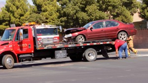 A two-car accident at River Road and Riverside Drive resulted in one woman being transported to the hospital, St. George, Utah, Sept. 25, 2015 | Photo by Julie Applegate, St. George News